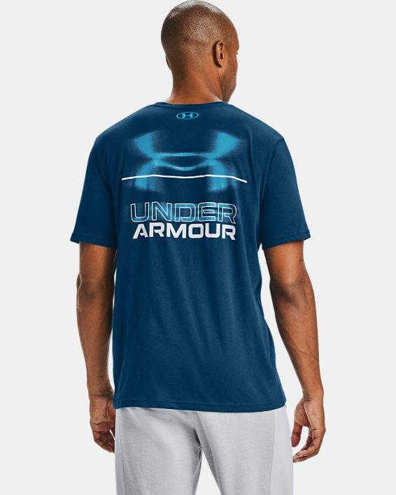 T-shirt à manches courtes UA Blurry Logo Wordmark pour homme, Blue, pdpMainDesktop image number 2