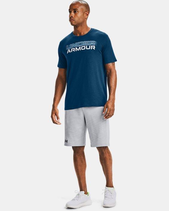 T-shirt à manches courtes UA Blurry Logo Wordmark pour homme, Blue, pdpMainDesktop image number 1