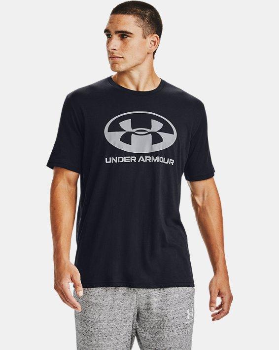 Men's UA Locker Tag Wordmark Short Sleeve, Black, pdpMainDesktop image number 0