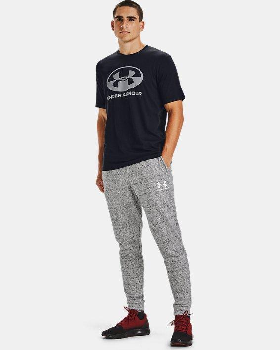 Men's UA Locker Tag Wordmark Short Sleeve, Black, pdpMainDesktop image number 1