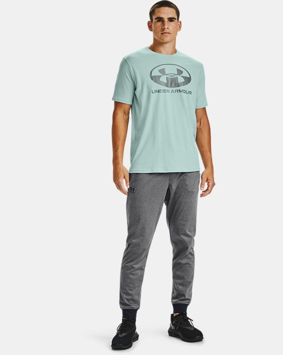 T-shirt à manches courtes UA Locker Tag Wordmark pour homme, Blue, pdpMainDesktop image number 1