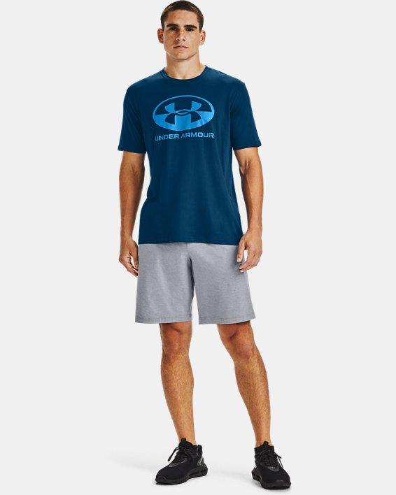 Men's UA Locker Tag Wordmark Short Sleeve, Blue, pdpMainDesktop image number 1