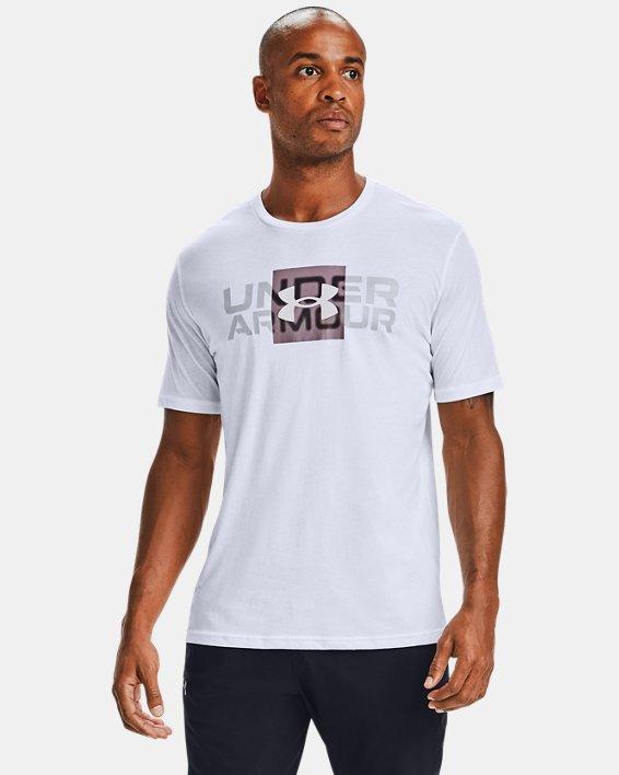T-shirt à manches courtes UA Box Logo Wordmark pour homme, White, pdpMainDesktop image number 1