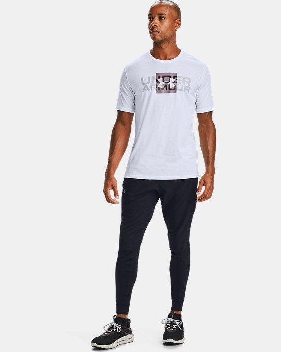 T-shirt à manches courtes UA Box Logo Wordmark pour homme, White, pdpMainDesktop image number 0