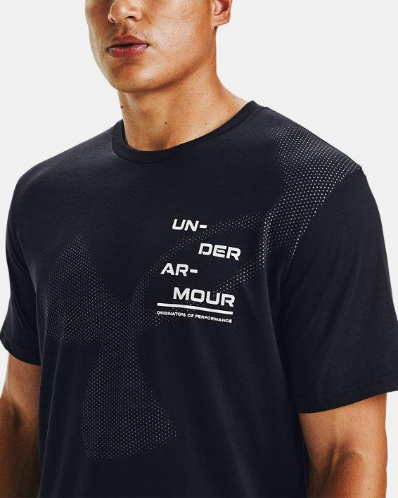 Men's UA Big Logo Breakdown Short Sleeve, Black, pdpMainDesktop image number 0