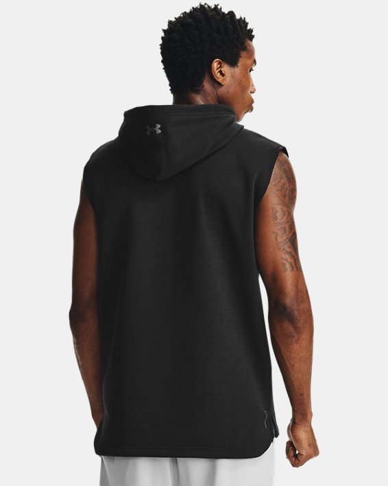 Men's Project Rock Charged Cotton® Sleeveless Hoodie, Black, pdpMainDesktop image number 2