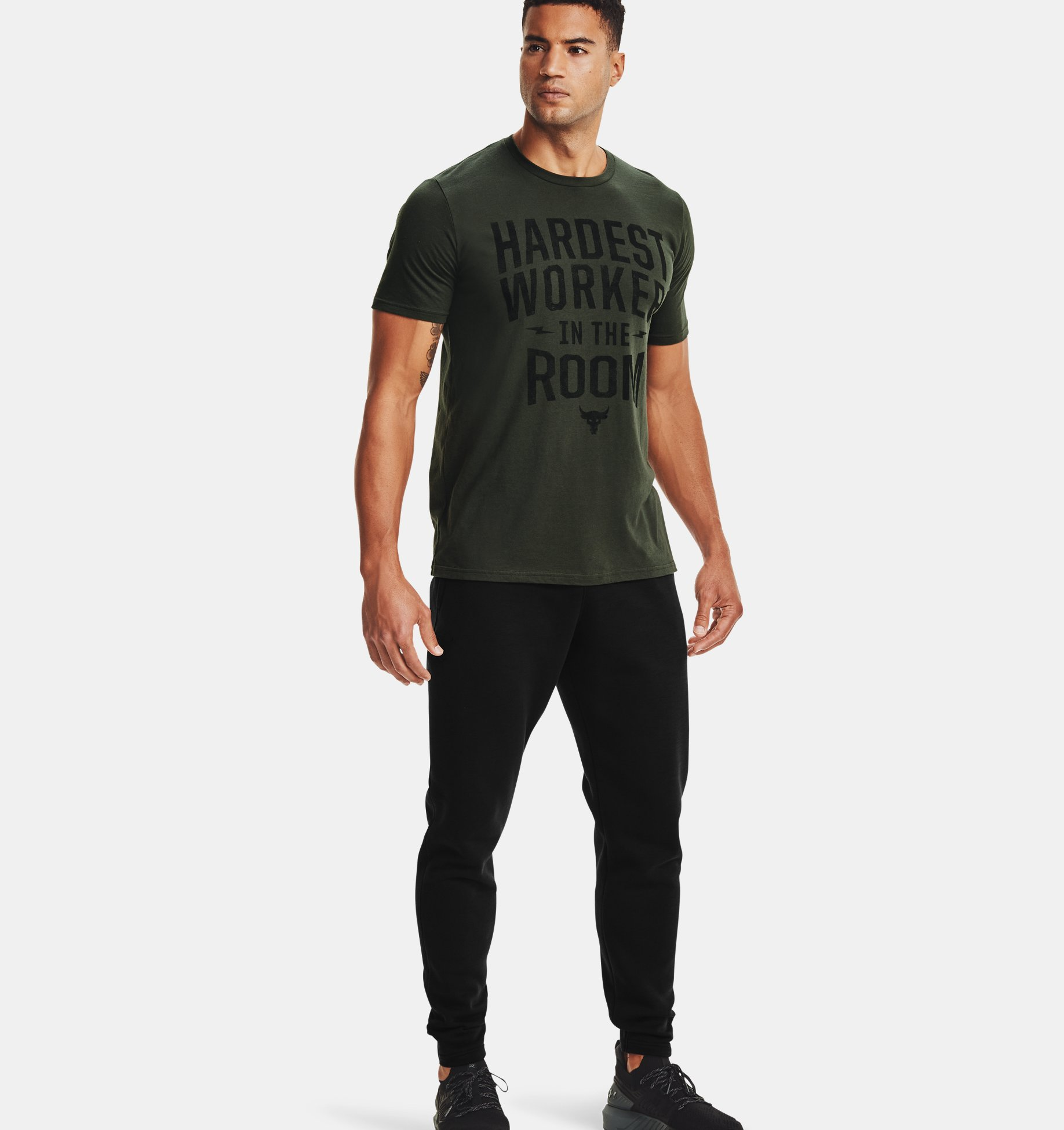Underarmour Mens Project Rock Hardest Worker Short Sleeve