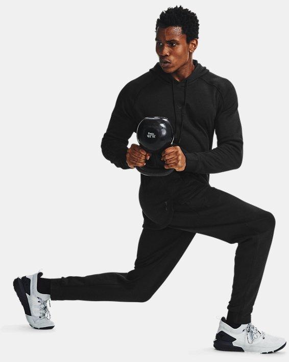 [언더아머 프로젝트 락 컬렉션] 후드티 Under Armour Mens Project Rock Charged Cotton Hoodie,Black / Black - 001