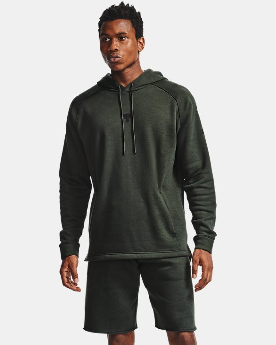 Men's Project Rock Charged Cotton® Hoodie, Green, pdpMainDesktop image number 1