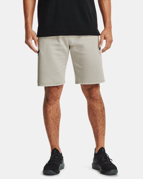 [언더아머 프로젝트 락 컬렉션] 플리스 반바지 Under Armour Mens Project Rock Charged Cotton Fleece Shorts,Summit White / Black - 110