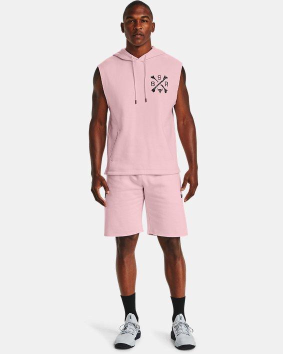 [언더아머 프로젝트 락 컬렉션] 반바지 Under Armour Mens Project Rock Charged Cotton Fleece Shorts,Rosewater / Black - 643