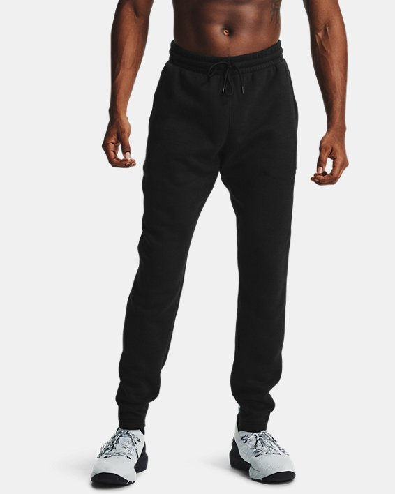 [언더아머 프로젝트 락 컬렉션] 플리스 바지 Under Armour Mens Project Rock Charged Cotton Fleece Pants,Black / Black - 001