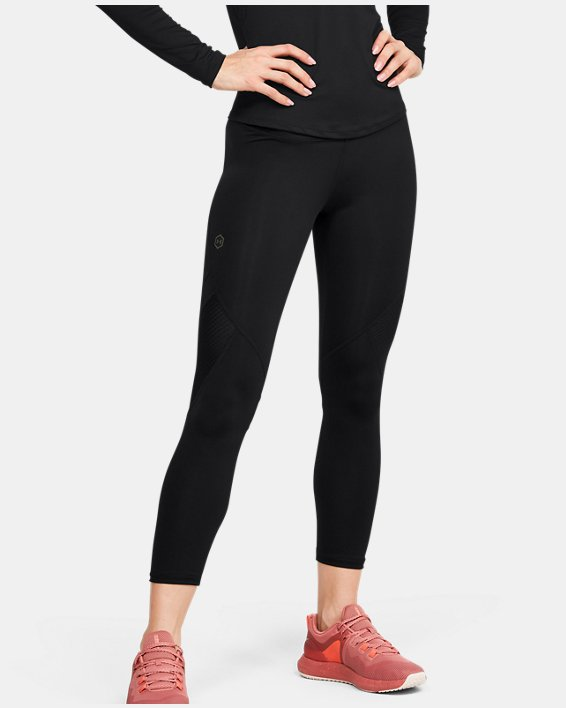 Women's UA RUSH™ Crop, Black, pdpMainDesktop image number 0
