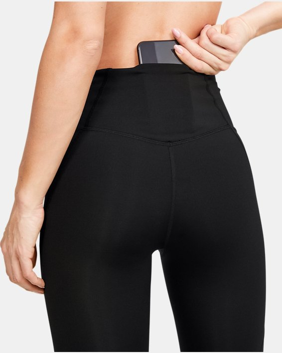 Women's UA RUSH™ Crop, Black, pdpMainDesktop image number 6