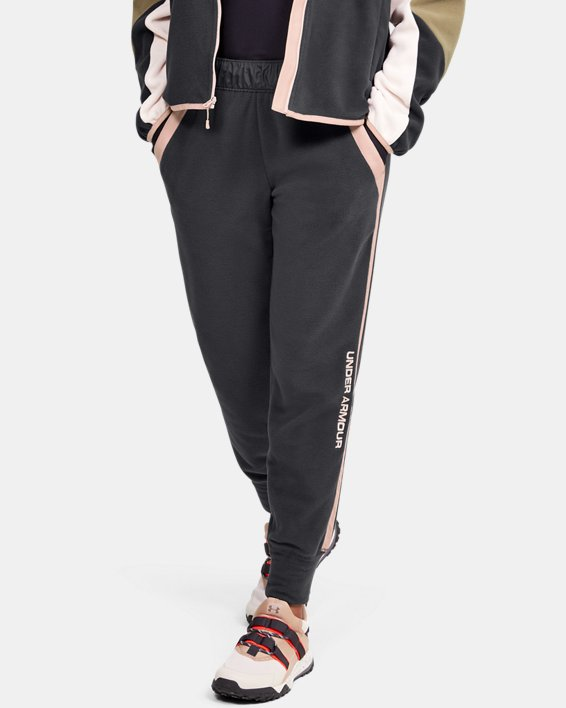 Women's UA Always On Polar Fleece Pants, Gray, pdpMainDesktop image number 0