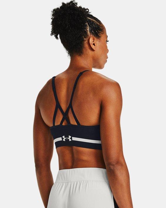 Damen UA Seamless Low Long Sport-BH, Black, pdpMainDesktop image number 1
