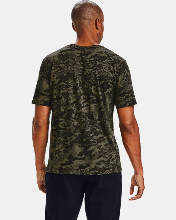 Men's UA ABC Camo Short Sleeve, Black, pdpMainDesktop image number 2