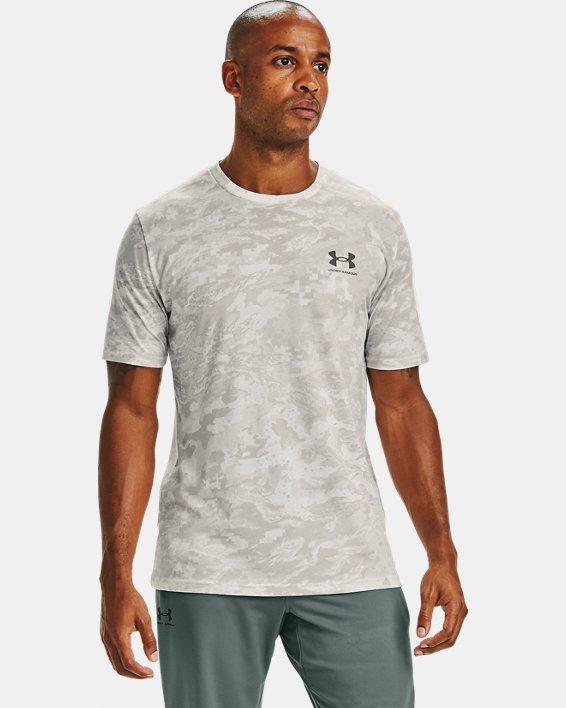 Men's UA ABC Camo Short Sleeve, White, pdpMainDesktop image number 0