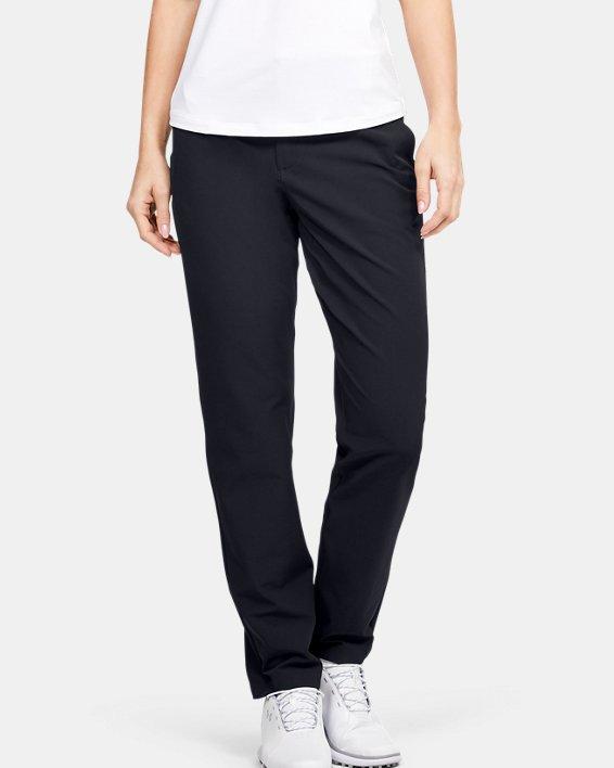 Women's UA Links Pants, Black, pdpMainDesktop image number 0