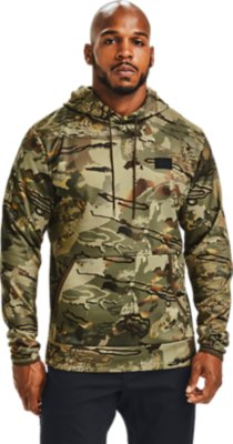 Under Armour Storm Men/'s Size 2XL Fleece Stacked Hoodie Army Green Camo
