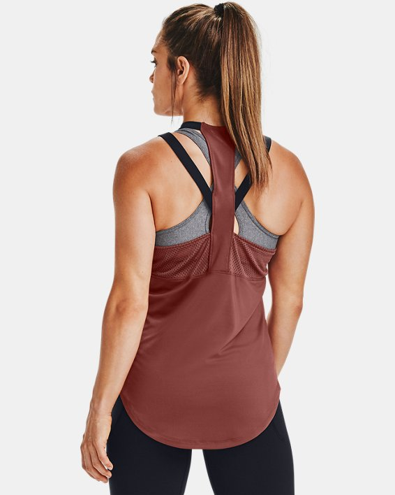 Women's UA Armour Sport 2-Strap Tank, Red, pdpMainDesktop image number 2