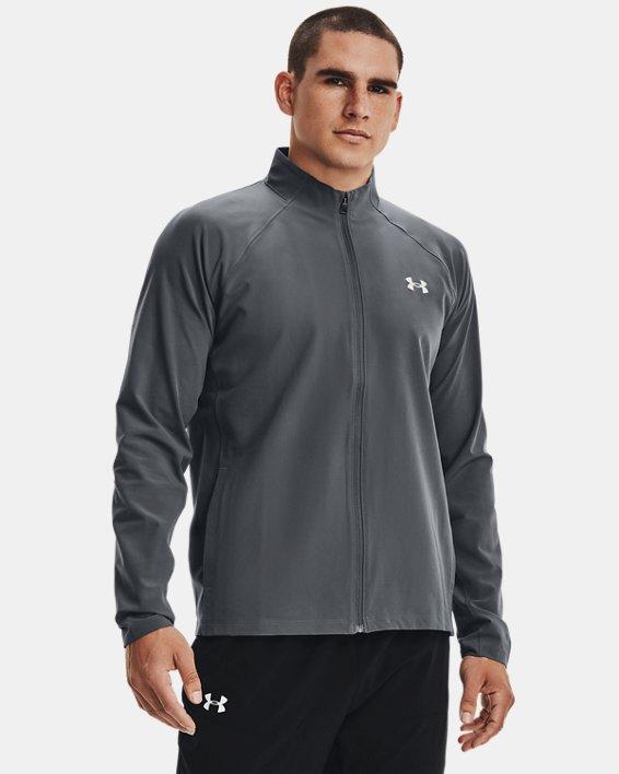 Men's UA Storm Launch 3.0 Jacket, Gray, pdpMainDesktop image number 2