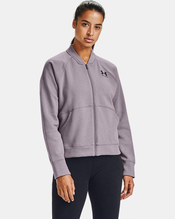 Women's UA Rival Fleece Jacket, Purple, pdpMainDesktop image number 1