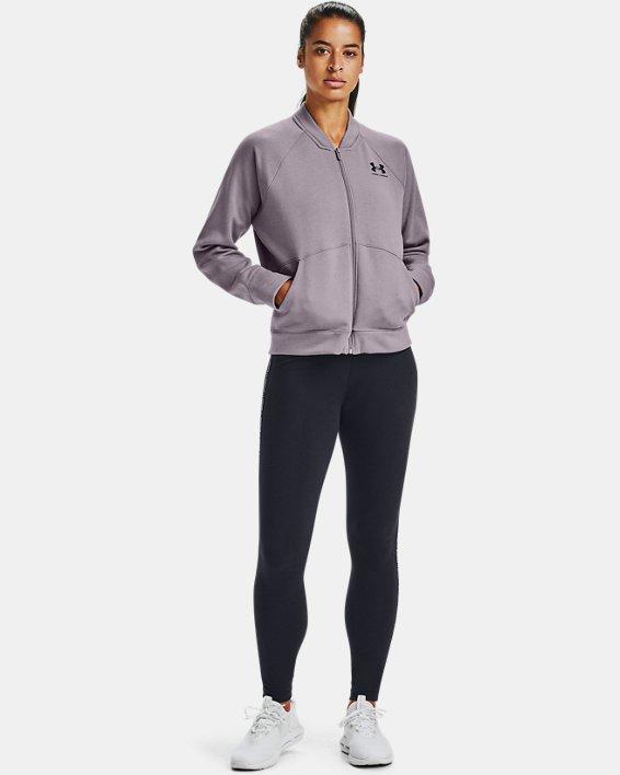 Women's UA Rival Fleece Jacket, Purple, pdpMainDesktop image number 0
