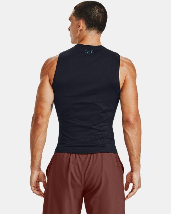 Men's UA RUSH™ HeatGear® 2.0 Compression Sleeveless, Black, pdpMainDesktop image number 2