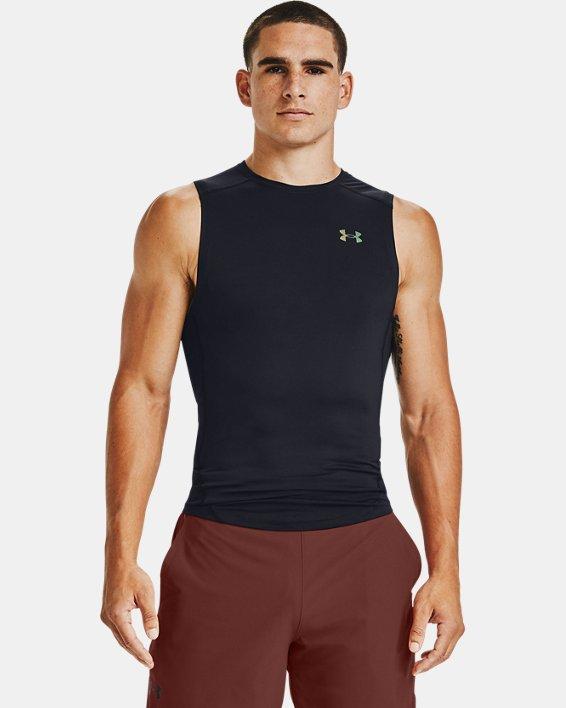 Men's UA RUSH™ HeatGear® 2.0 Compression Sleeveless, Black, pdpMainDesktop image number 0
