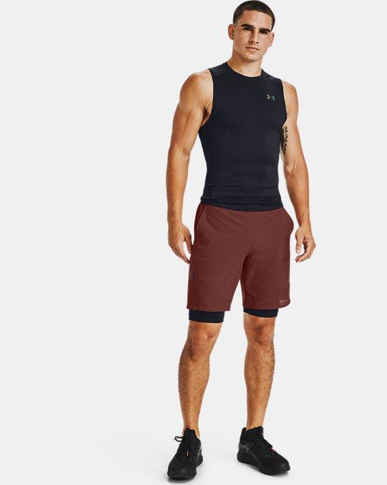 Men's UA RUSH™ HeatGear® 2.0 Compression Sleeveless, Black, pdpMainDesktop image number 1