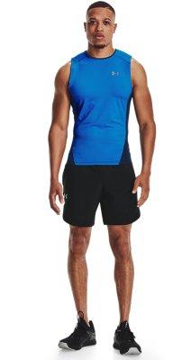 Under Armour Heatgear 2.0 Homme Compression Collants Noir Gym Course Entraînement UA