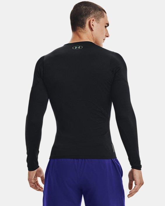 T-shirt à manches longues UA RUSH™ HeatGear® 2.0 Compression pour homme, Black, pdpMainDesktop image number 3