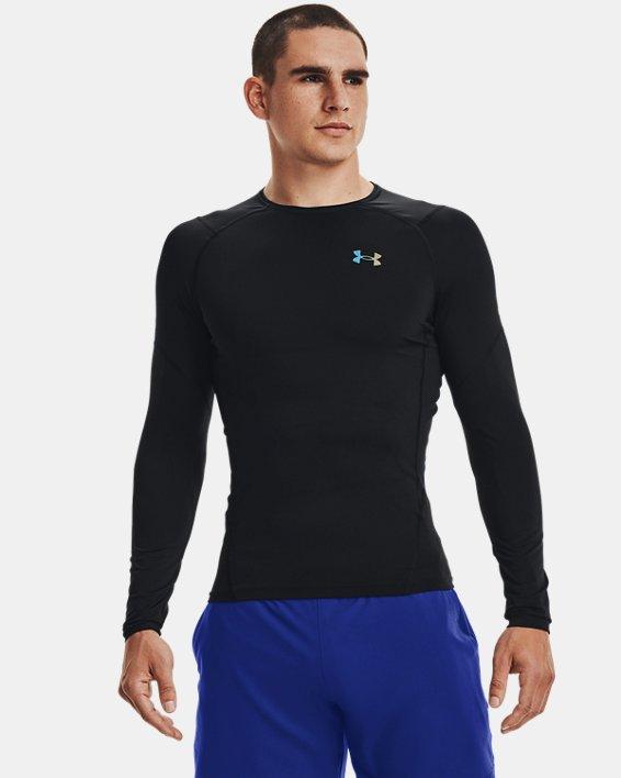 T-shirt à manches longues UA RUSH™ HeatGear® 2.0 Compression pour homme, Black, pdpMainDesktop image number 2