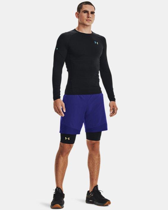 T-shirt à manches longues UA RUSH™ HeatGear® 2.0 Compression pour homme, Black, pdpMainDesktop image number 1