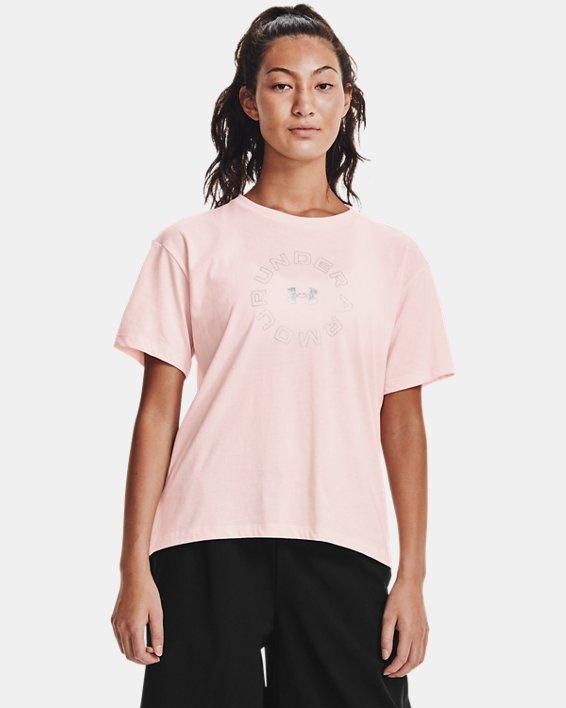Women's UA Wordmark Graphic Short Sleeve, Pink, pdpMainDesktop image number 0