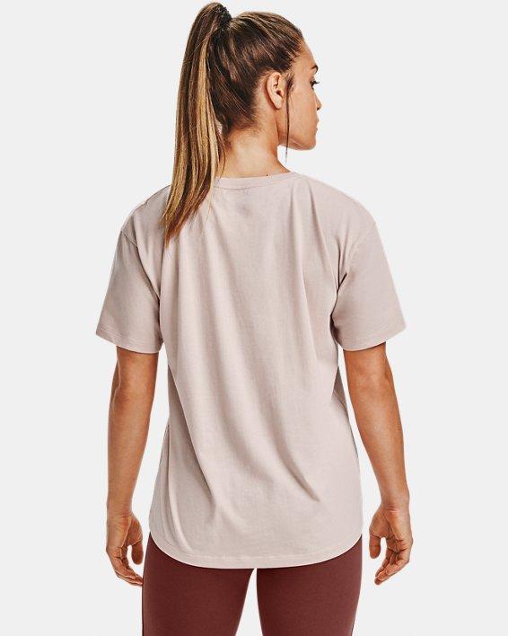T-shirt à manches courtes UA Wordmark Graphic pour femme, Brown, pdpMainDesktop image number 2