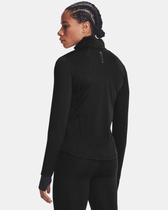 Damen UA RUSH™ Oberteil mit durchgehendem Zip, Black, pdpMainDesktop image number 2