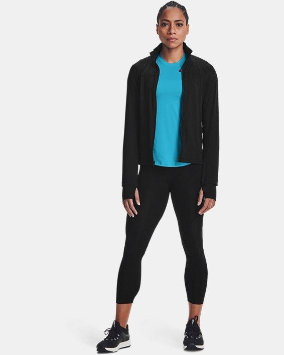Damen UA RUSH™ Oberteil mit durchgehendem Zip, Black, pdpMainDesktop image number 0