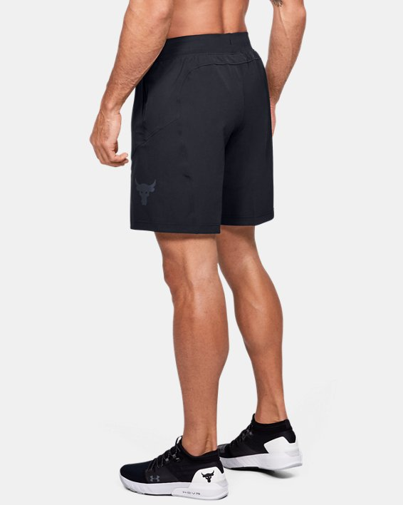 Men's Project Rock Unstoppable Shorts, Black, pdpMainDesktop image number 3