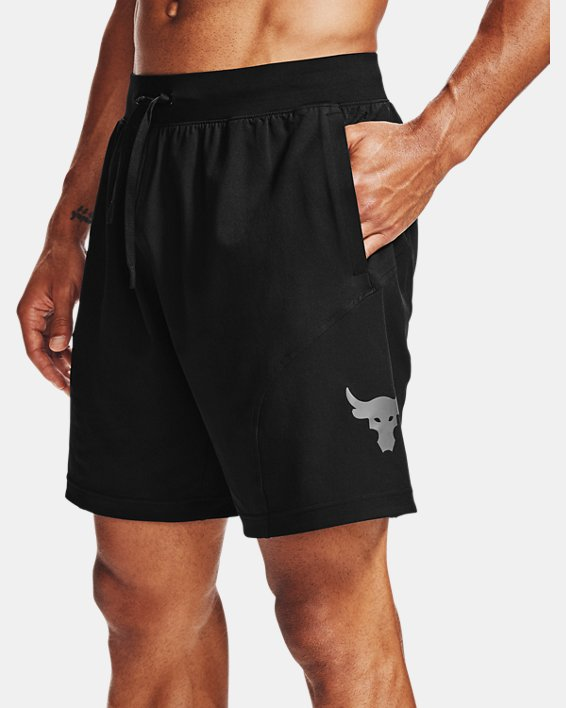 Men's Project Rock Unstoppable Shorts, Black, pdpMainDesktop image number 7