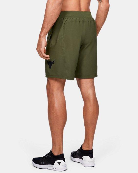 Men's Project Rock Unstoppable Shorts, Green, pdpMainDesktop image number 2
