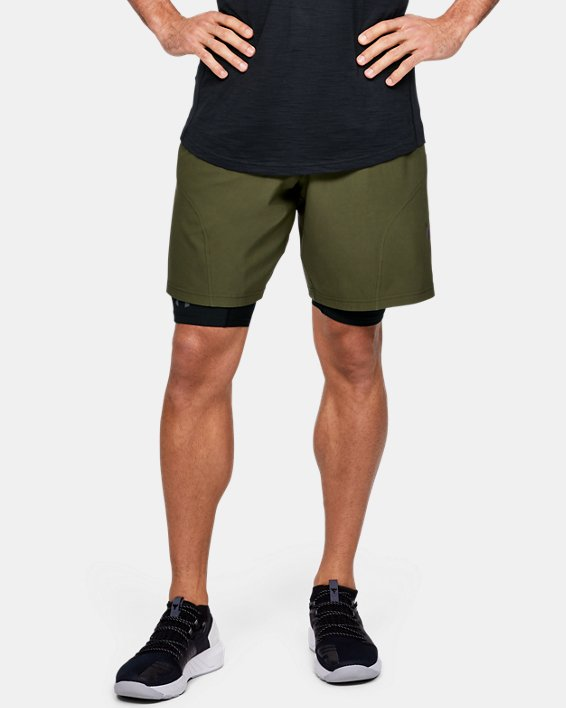 Men's Project Rock Unstoppable Shorts, Green, pdpMainDesktop image number 0