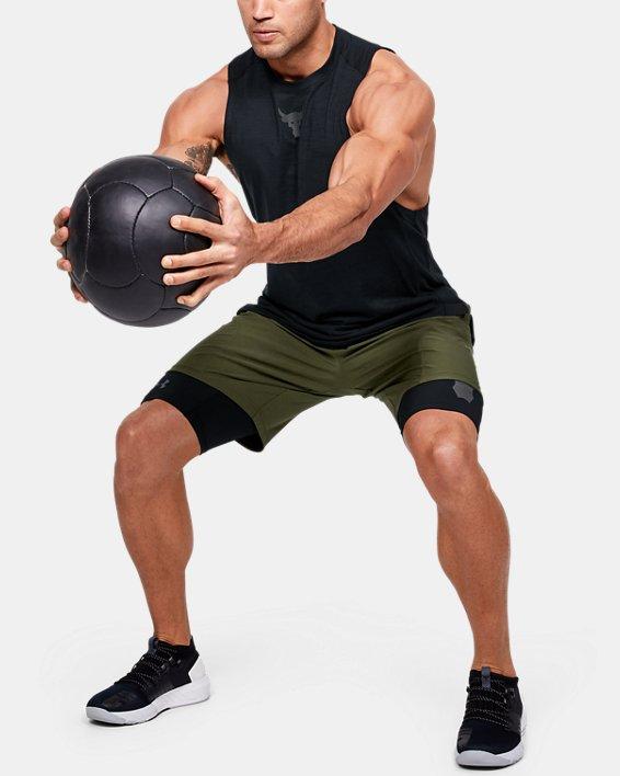 Men's Project Rock Unstoppable Shorts, Green, pdpMainDesktop image number 1