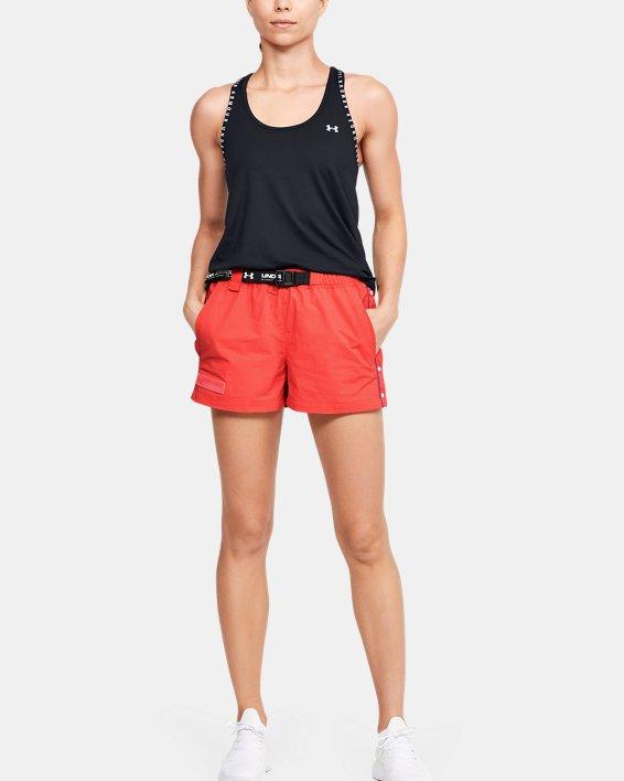 Women's UA Summit Woven Shorts, Red, pdpMainDesktop image number 1