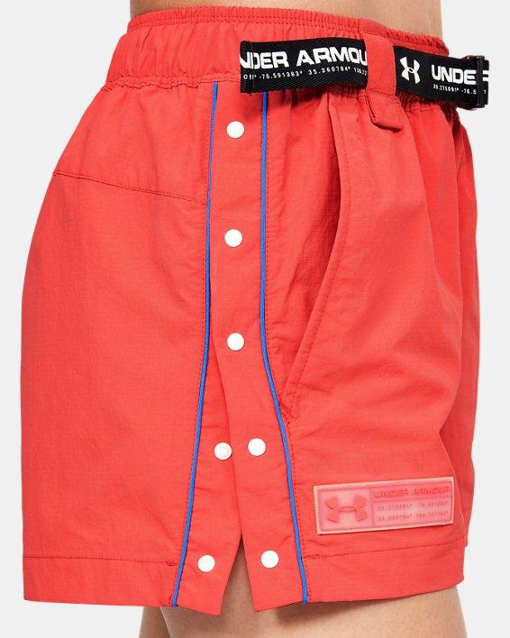 Women's UA Summit Woven Shorts, Red, pdpMainDesktop image number 3