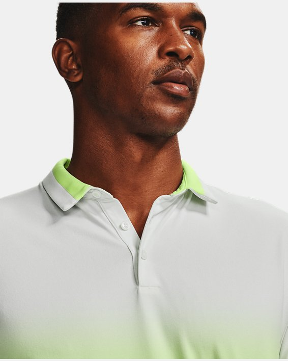 Men's UA Range Unlimited Fade Polo, White, pdpMainDesktop image number 5