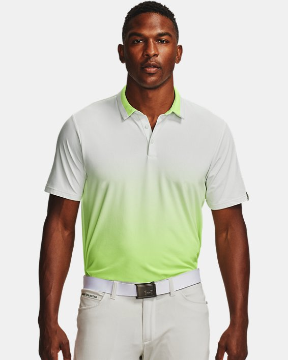 Men's UA Range Unlimited Fade Polo, White, pdpMainDesktop image number 1