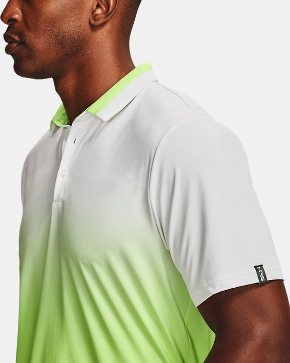 Men's UA Range Unlimited Fade Polo, White, pdpMainDesktop image number 6