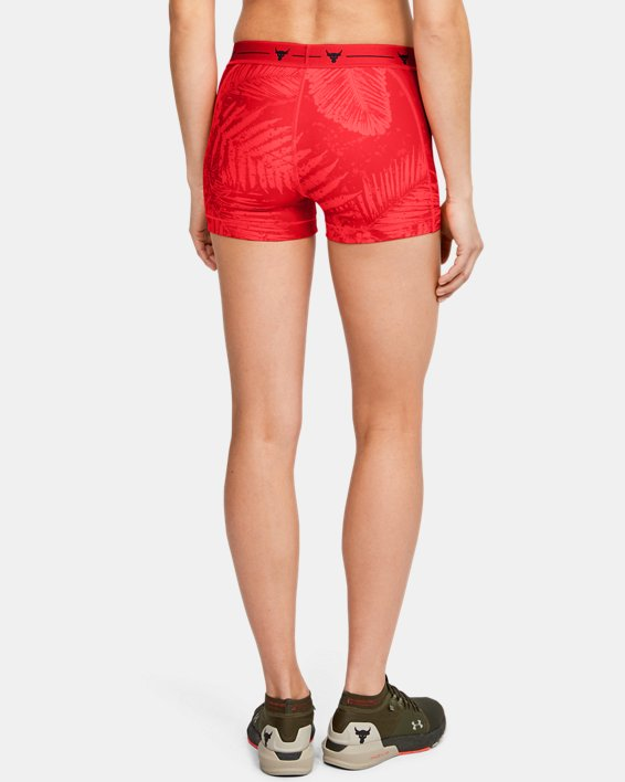 Women's Project Rock HeatGear® Shorty, Red, pdpMainDesktop image number 2